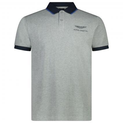 Poloshirt mit Logo-Stickerei grau (933GREY MA) | S