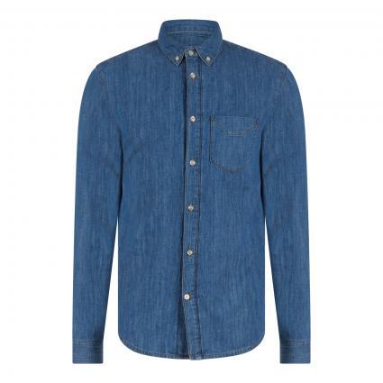 Regular-Fit Jeanshemd blau (21F medium blue ) | S