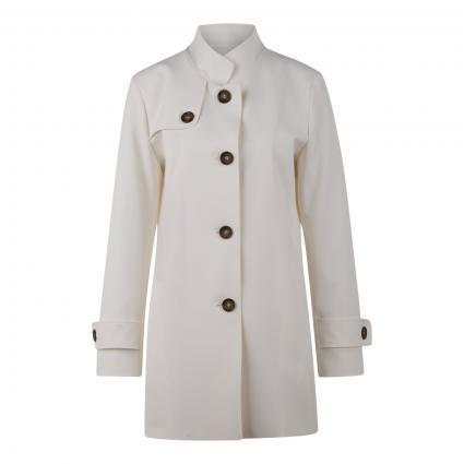 Jacke mit Stehkragen und sportiven Details weiss (5 weiß) | 42