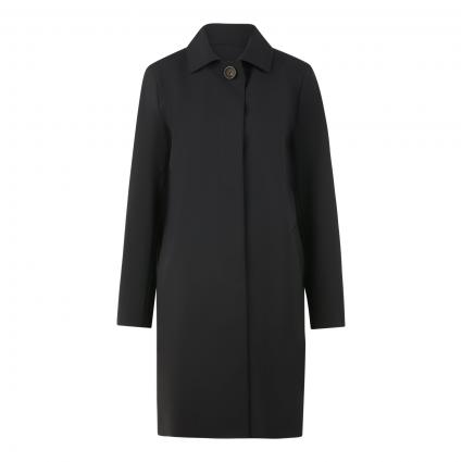 Mantel mit Umlegekragen schwarz (1 schwarz) | 44