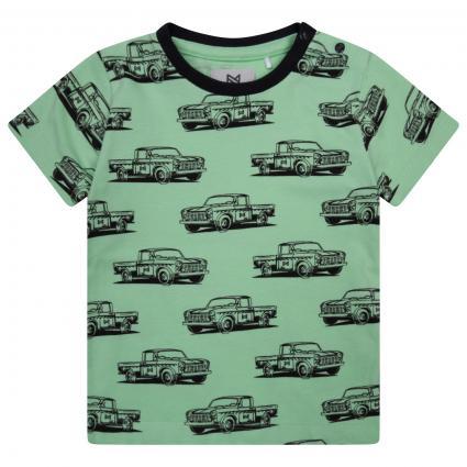 T-Shirt mit Automotiv grün (Faded neon green) | 74