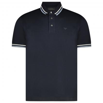 Poloshirt mit Label-Applikation  marine (0920 marine) | L