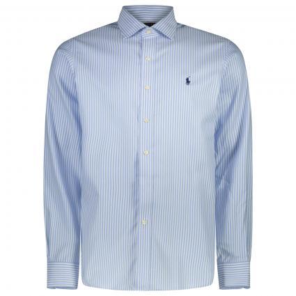 Custom-Fit Hemd mit All-Over Streifenmuster  blau (001 TRUE BLUE/WHITE) | 42