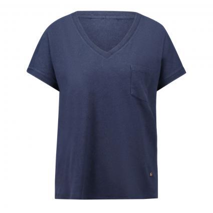 T-Shirt 'Maya' mit V-Ausschnitt marine (469 NAVY) | M