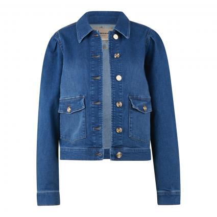 Jeansjacke mit Puffärmeln blau (401 BLUE)   L