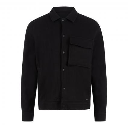 Jacke 'Arist' mit Brusttasche schwarz (900 black)   S
