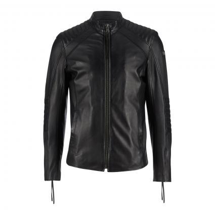 Bikerjacke 'Philian' aus Leder schwarz (900 black) | XXL
