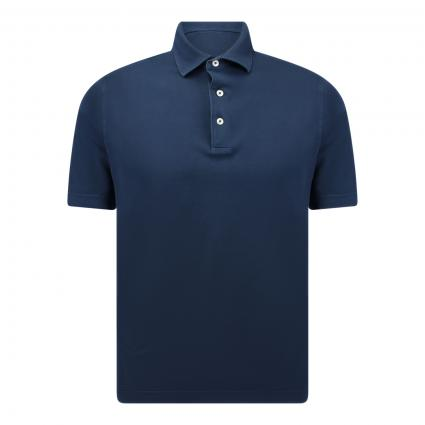 Poloshirt mit Pikee-Struktur blau (880 blau) | 50