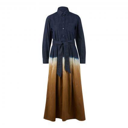 Hemdblusenkleid 'Dorina' in Batik-Optik blau (001 denim) | 42