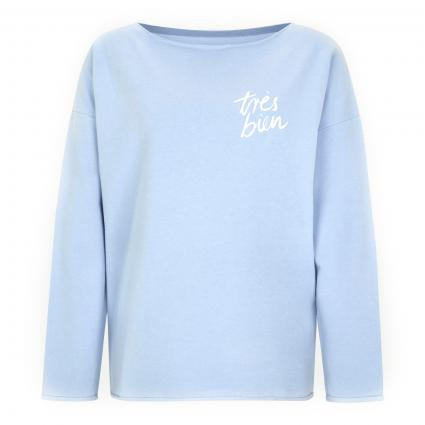 Oversize Sweatshirt mit geschnittenen Kanten blau (865 denim) | XL