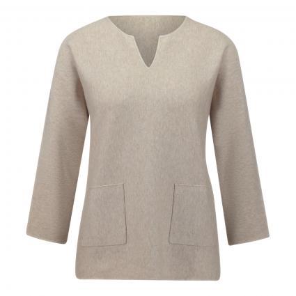 Pullover mit Schlitzausschnitt beige (1130 sand)   38