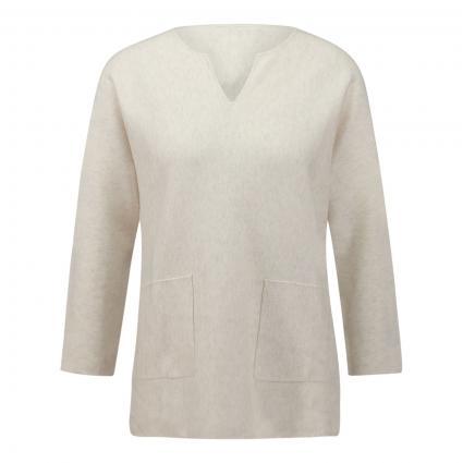 Pullover mit Schlitzausschnitt beige (1386 ivory) | 38