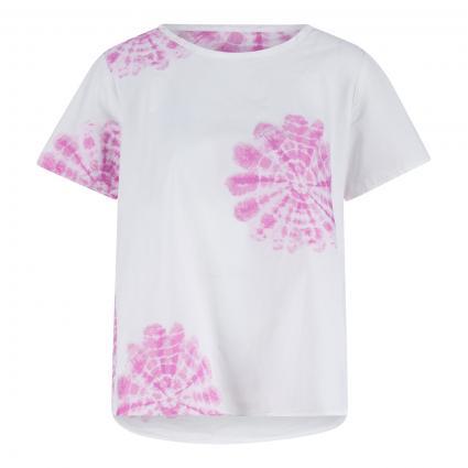 Blusenshirt mit platziertem Batikdruck pink (2978/80 pink) | 36