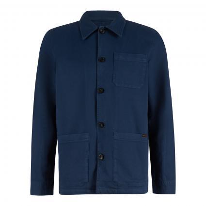 Jacke 'Barney' im Workwear-Style blau (indigo blue) | L