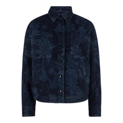 Jacke mit All-Over Muster marine (395 midnight blue) | 36