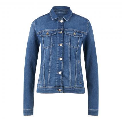Jeansjacke mit Einschubtaschen blau (mid Blue) | S