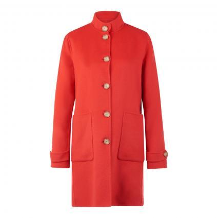 Mantel mit Stehkragen rot (4650 rot) | 44