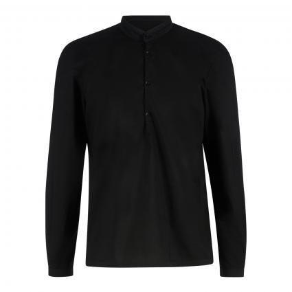 Hemd mit Stehkragen schwarz (999 black)   S