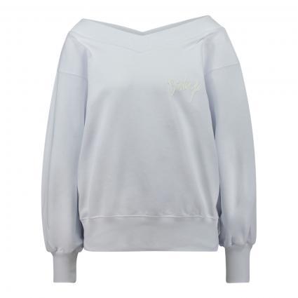 Sweatshirt mit V-Ausschnitt weiss (000) | L