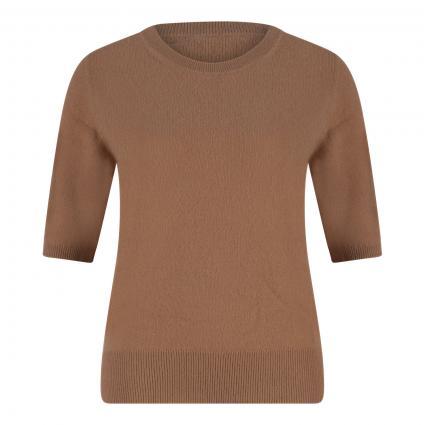 Cashmere-Pullover mit kurzen Ärmeln camel (camel) | XL