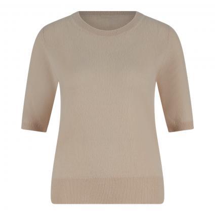Cashmere-Pullover mit kurzen Ärmeln beige (sand) | M