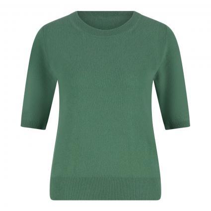 Cashmere-Pullover mit kurzen Ärmeln grün (seegrün)   M