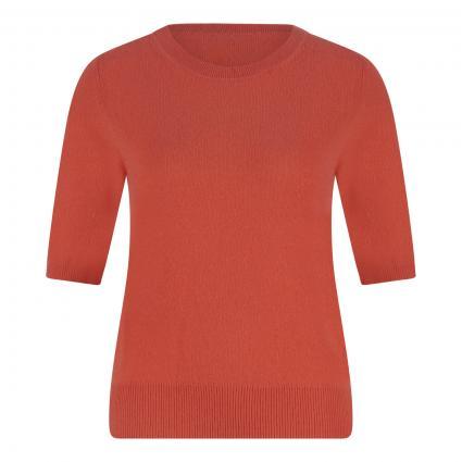 Cashmere-Pullover mit kurzen Ärmeln orange (papaya)   XL