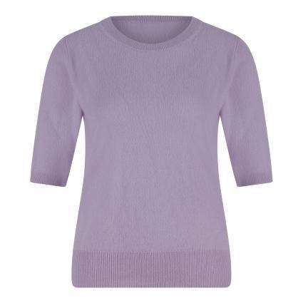 Cashmere-Pullover mit kurzen Ärmeln flieder (flieder) | L