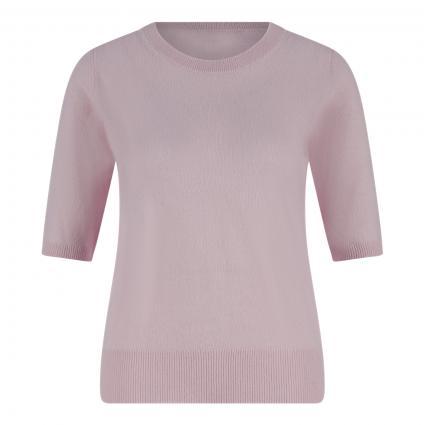 Cashmere-Pullover mit kurzen Ärmeln rose (rose) | XL