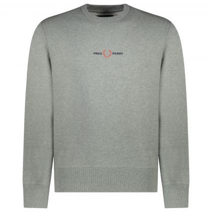 Sweatshirt mit frontaler Label-Stickerei  grau (420 Steel Merl) | L
