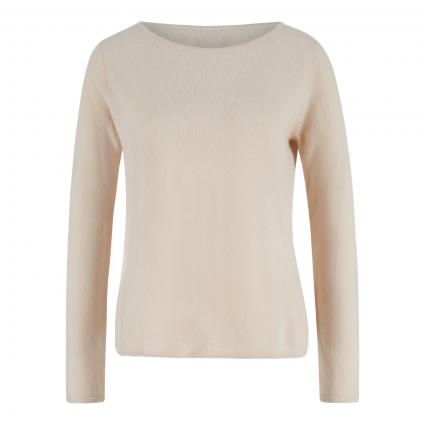 Cashmere-Pullover mit abgerundetem Saum beige (sand) | L