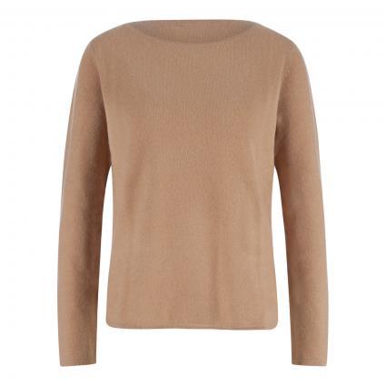 Cashmere-Pullover mit abgerundetem Saum camel (camel) | L