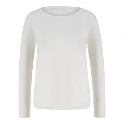 Cashmere-Pullover mit abgerundetem Saum ecru (ecru) | XXL