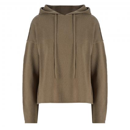 Cashmere-Pullover mit Kapuze oliv (khaki)   L