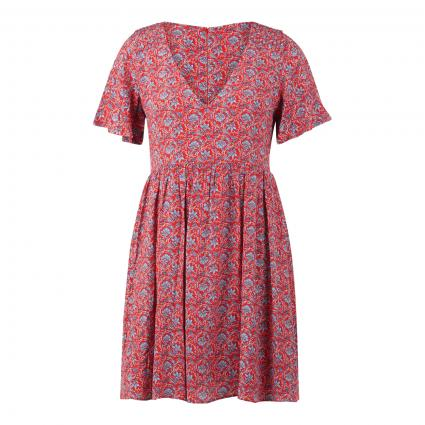 Kleid mit All-Over Druck rot (0AA multi) | M