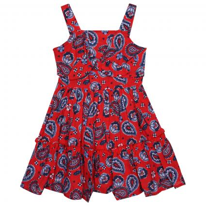 Kleid mit All-Over-Print rot (003 Poppy) | 98