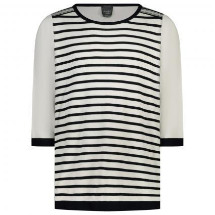 Pullover mit Streifenmuster  weiss (081 BCO SE/BLU/ARGE) | M