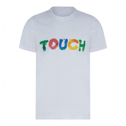 T-Shirt mit Print weiss (01072 Weiß) | XL