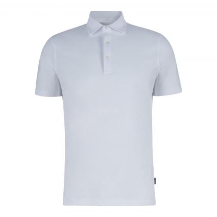 Unifarbenes Polohemd  weiss (01072 weiß) | XL