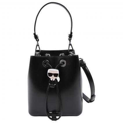 Beutel Tasche aus Leder schwarz (999 BLACK) | 0