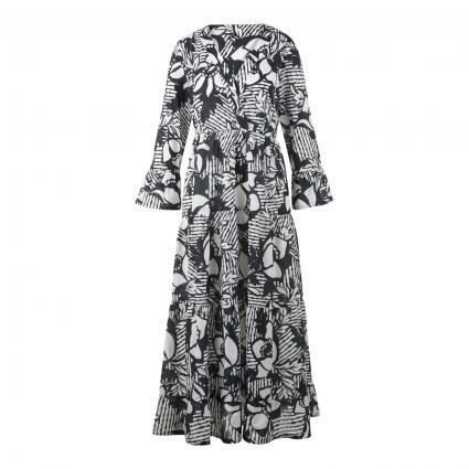 Tunika Kleid mit All-Over Druck schwarz (FY1 schwarz weiß) | 36