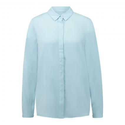 Hemdbluse 'Blair' mit verdeckter Knopfleiste blau (OMPHALODES) | XS