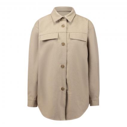 Jacke 'Maude' im Overshirt-Stil beige (WHITE PEPPER) | S