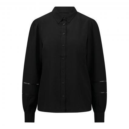 Bluse ' Ellene' mit Hemdkragen schwarz (BLACK) | XS