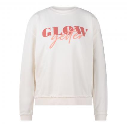 Sweatshirt mit Print und Stitching ecru (108 ecru) | XXL