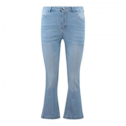 Flared Jeans in 7/8 Länge blau (697 light denim) | S