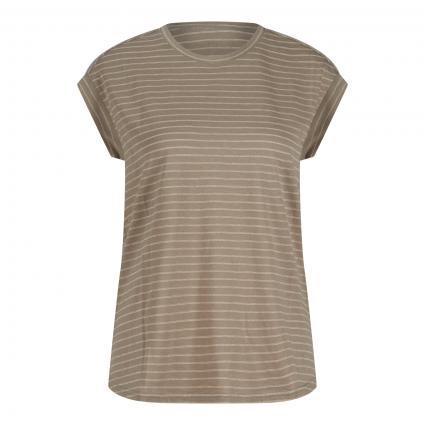 T-Shirt mit Glitzerstreifen grün (9299 pepper stripes) | 44