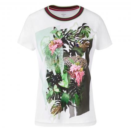 T-Shirt mit platziertem Druck grün (583 sludge) | 38
