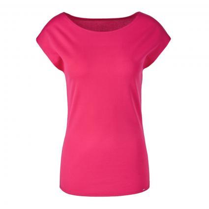 T-Shirt mit U-Boot Ausschnitt rot (242 cabaret) | 40