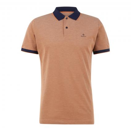 Polohemd mit Zierstreifen orange (806 Orange) | M